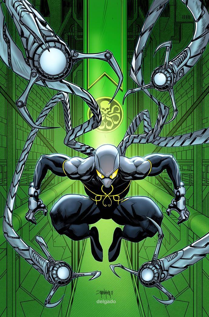 #Spider-Man #Fan #Art. (Secret Empire Vol.1 #2 Villain VariantCover) By: Andrea Sorrentino & Dann Mora. ÅWESOMENESS!!!™ ÅÅÅ+
