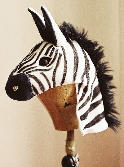 "Zebra maskFor the children's musical ""Das Parlament der Tiere"", Hamburg– made of textile materials"