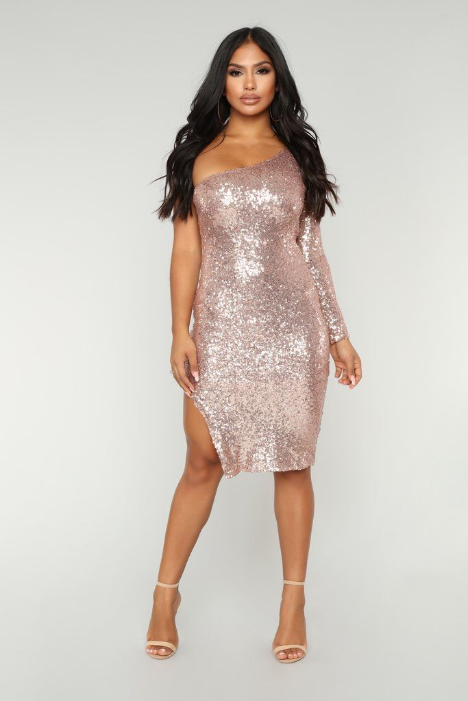 a7259252 Fiona Sequin Dress - Champagne | Birthday slay | Sequin Dress ...