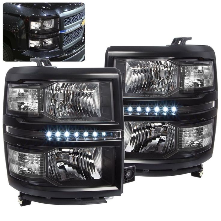 CHEVY SILVERADO 1500 2014 2015 2016 HEADLIGHT BLACK HOUSING CLEAR REFLECTOR LED | eBay Motors, Parts & Accessories, Car & Truck Parts | eBay!