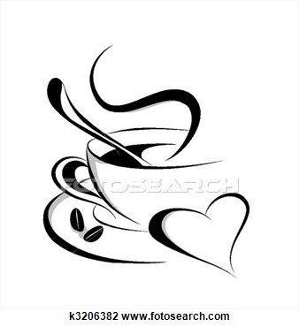 Coffee Heart Clip Art