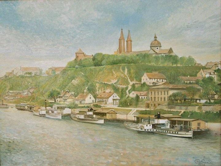 Płock 1920, obraz olejny na płótnie, oil on canvas by Leszek Gesiorski
