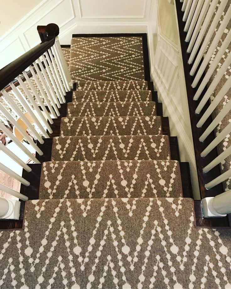 we always have fun installing this style from one of our favorites here at the showroom and it looks so great on stairs the style is hippie beads and the