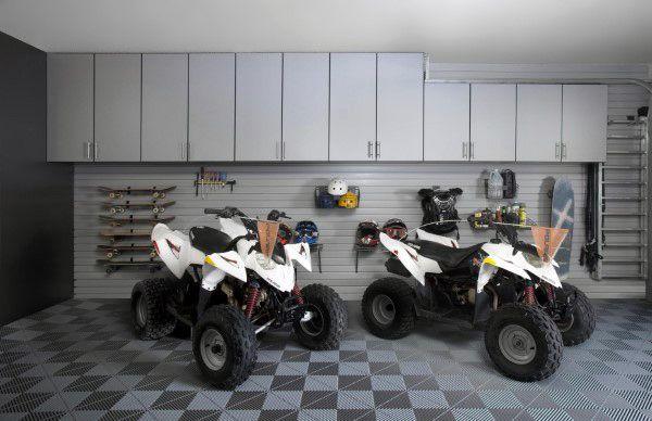 Квадроциклы В Пользовательских Гараж С Организованной Проектирование Системы Хранения