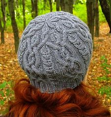 This hat is worked circularly (in the round) from base of brim to top of crown.
