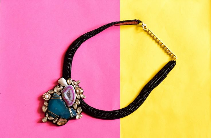 Summer Agates Neckpiece Buy this from : https://www.instamojo.com/storeuntold/summer-agates-neckpiece/
