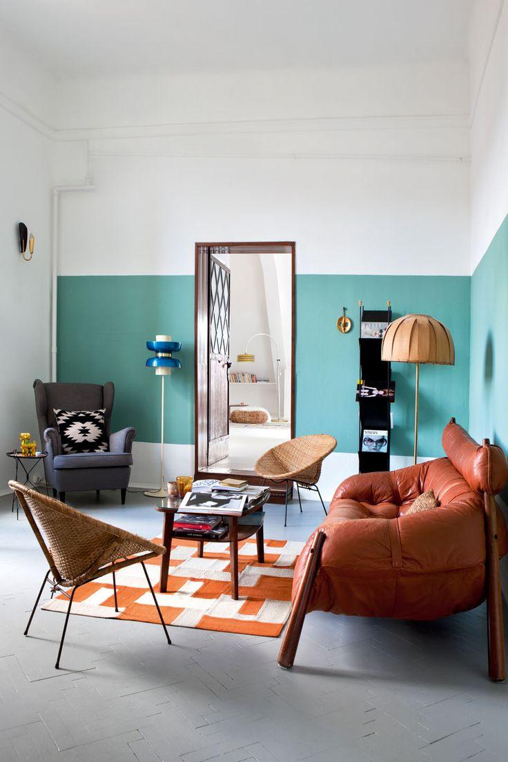 Décoration d'intérieur L'appartement-atelier d'Attila et Zsuzsa à Budapest Jecraque complètement pour cet appartement dans le magazine Milk Décoration pour son côté éclectique et coloré, encore...me direz-vous, mais tout de même moins bohème que la maison madrilèneque j'ai partagée avec vous…