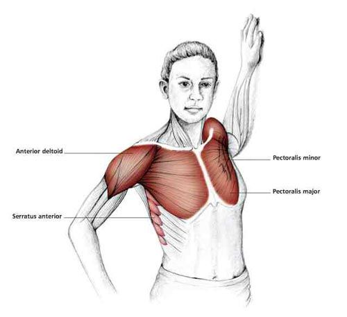 Bent Arm Chest Stretch - Common Shoulder Stretching Exercises | FrozenShoulder.com