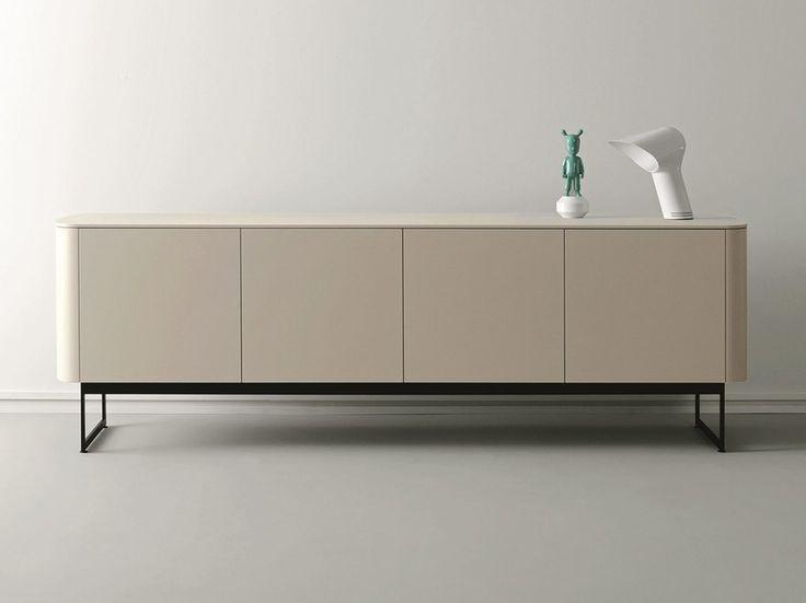 Compra en línea Side   aparador lacado By caccaro, aparador lacado de madera con puertas diseño Monica Graffeo, Colección sideview