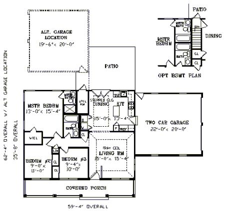 First Floor Plan Image Of Featured House Plan Bhg 3791