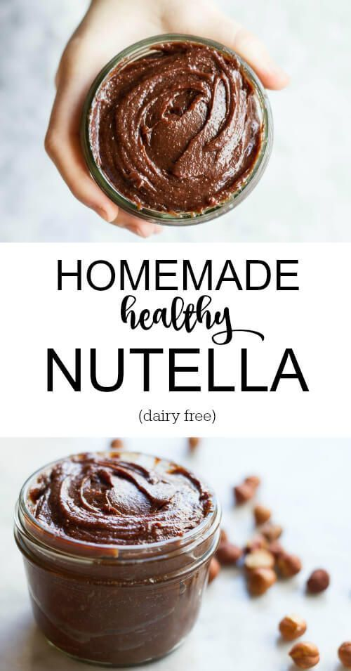 Healthy Nutella. Only 6 ingredients. No artificial garbage or hydrogenated oils. Lightly roasted hazelnuts combined with sweet chocolate. Dairy free, Paleo.
