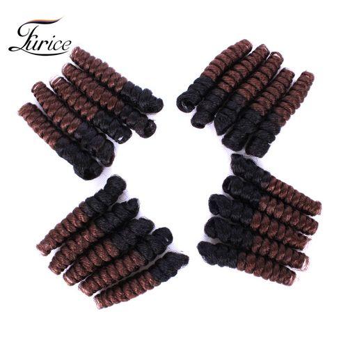 Faux Tapered Cut Natural Hair Saniya Curl Crochet Hair Extensions