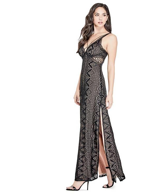 Long Lace Dress Guess Eu Lace Dress Long Lace Dress Dresses