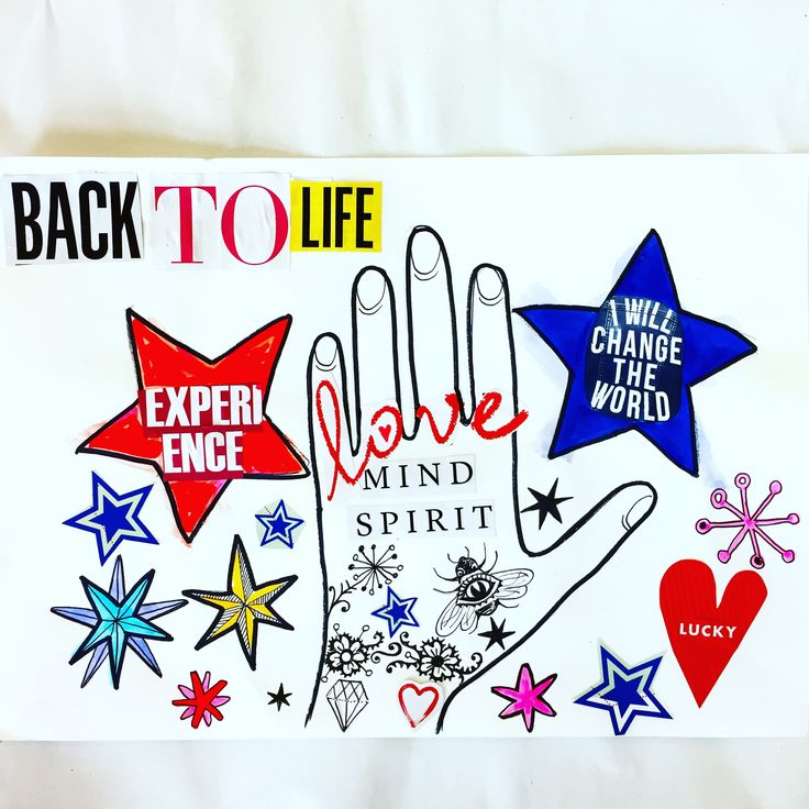 Back to life collage by Lizzie Reakes