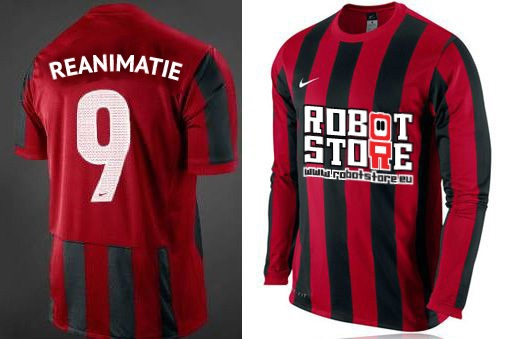 Robot Store needed a quick mockup for a sponsoring a OJC Rosmalen youth team.