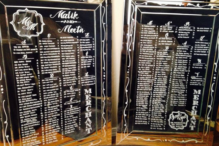 New to CoastalCalligraphy on Etsy: Wedding Seating Chart on Frameless Mirror. Hand Drawn with Calligraphy for Wedding Seating Charts Programs Welcome Signs. (245.00 USD)