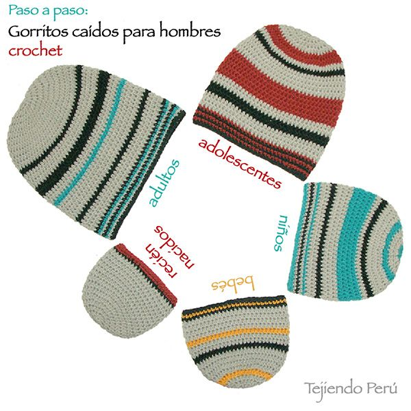 13 best gorros hombre images on Pinterest | Beanies for guys, Crafts ...