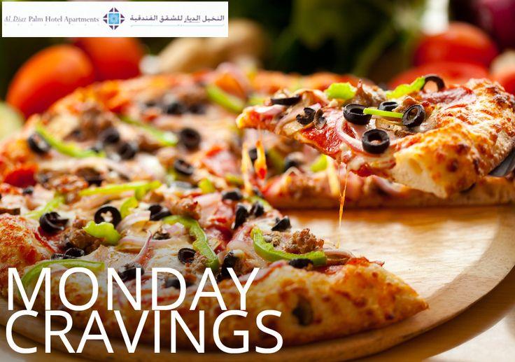 Satiate your 'Monday cravings' with a pizza-licious delights at La Palma Coffee Shop in Al Diar Palm Hotel Apartments.#AlDiar  #PalmHotel