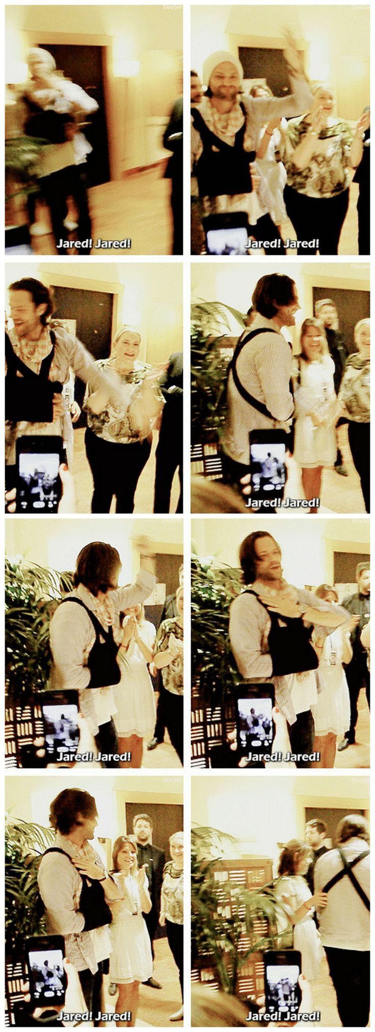 [gifset] Jared greeting fans after #JibCon14 In good spirits as always <3  #Jared
