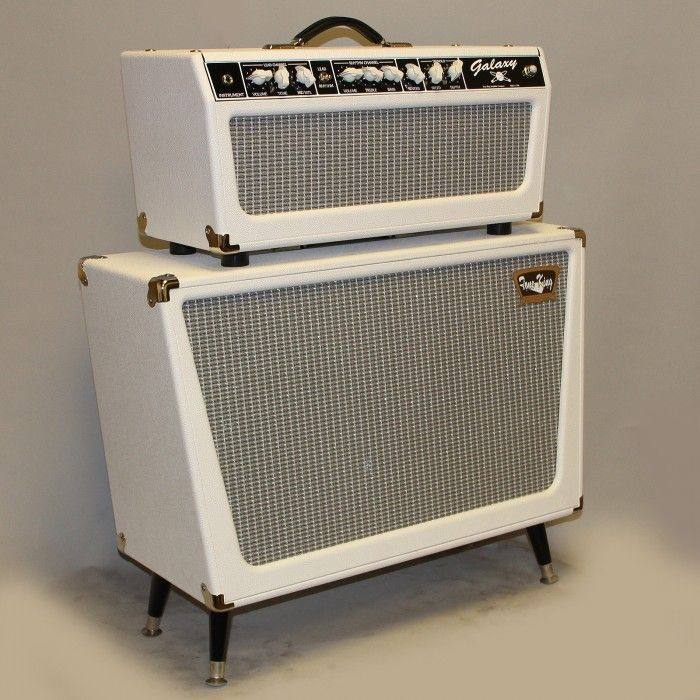 #WHITE #VINTAGE #AMP - Tone King Galaxy head and 2x12 cabinet - #Tone #King amps - MUSIC #STUDIO STUFF