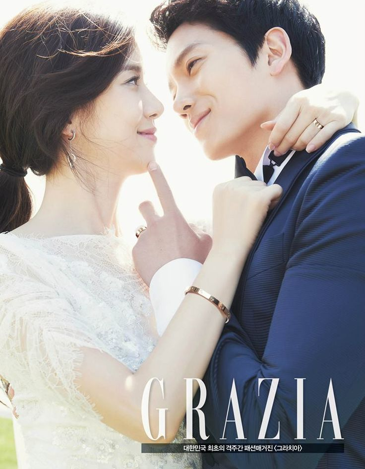 Lee Bo Young and Ji Sung Share the Love in their Grazia Magazine Engagement Pictorial | A Koala's Playground