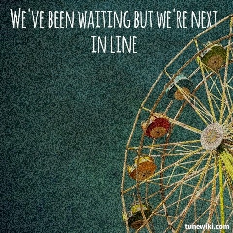 "-- #LyricArt for ""Next In Line"" by Walk the Moon"