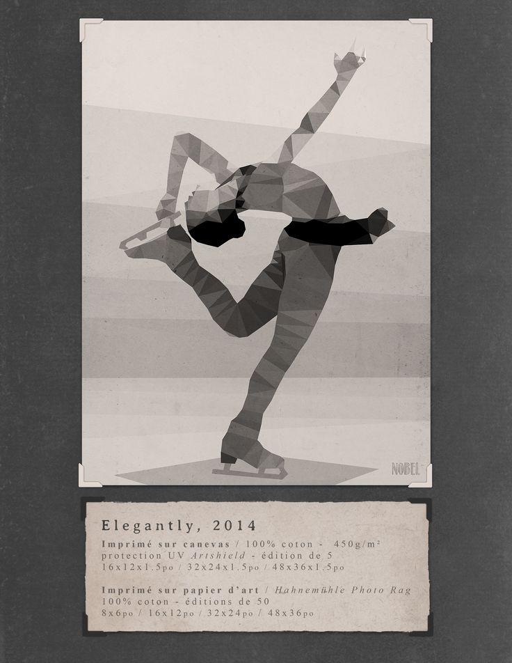 Elegantly, 2014. 48x36in. #print on canvas & print on #Hahnemühle Photo Rag. Limited edition. #chic #shack #shabby #vintage #artistic #skating /  Artist is Boris Nobel / Taken from his portfolio.