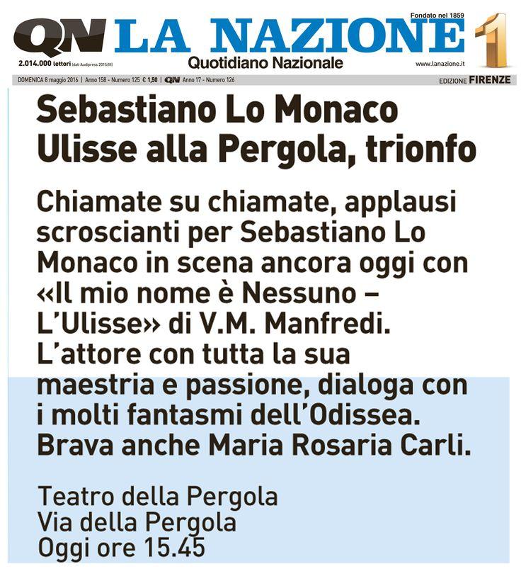"""8 maggio 2016 al Teatro della Pergola di Firenze oggi è stato l'ultimo giorno di una splendida settimana di Teatro, Pubblico soddisfatto e festante che ha riempito tutte le sere """"La Pergola"""" in ogni ordine di posti."""