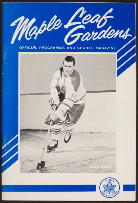 A game two program from the 1963-4 Stanley Cup Final.