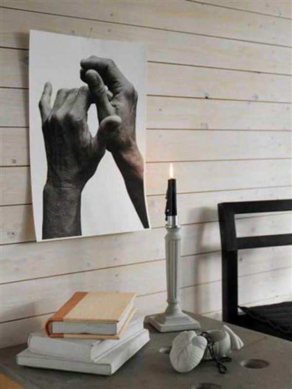 Tove Adman cement candle sticks