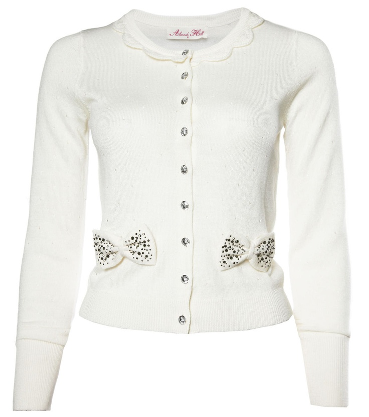 White, bows and the delicate details... is why I love this designer's clothing so much!