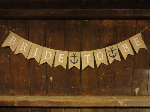 Bride to Be Banner Engagement Burlap Banner by IchabodsImagination, $24.00