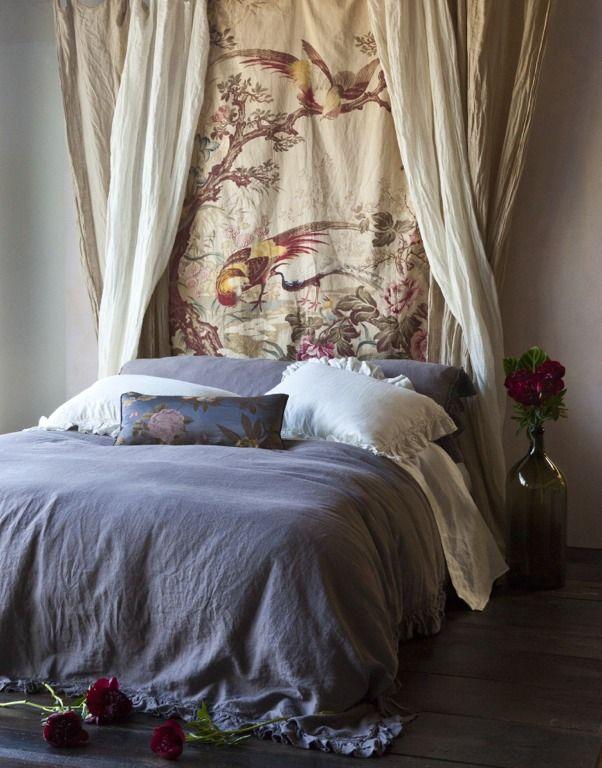 Bella Notte Linens- I love the headboard panels.: Beautiful Nott, Headboards Ideas, Shabby Chic, Duvet Covers, Bellanott, Beds Linens, Allysa Duvet, Nott Linens, Fabrics Headboards