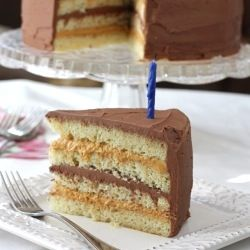Chocolate & Dulce de Leche Birthday Cake: Chocolates, Leche Birthday ...