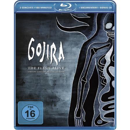 """Disco Blu-ray dei #Gojira intitolato """"The Flesh Live"""" contiene i concerti completi di Bordeaux e Garorock Festival e materiale registrato durante il Les Vielles Charrues Show, un documentario e un CD audio."""
