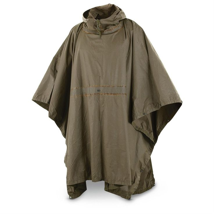 Used German Military-issue Wet-weather Poncho