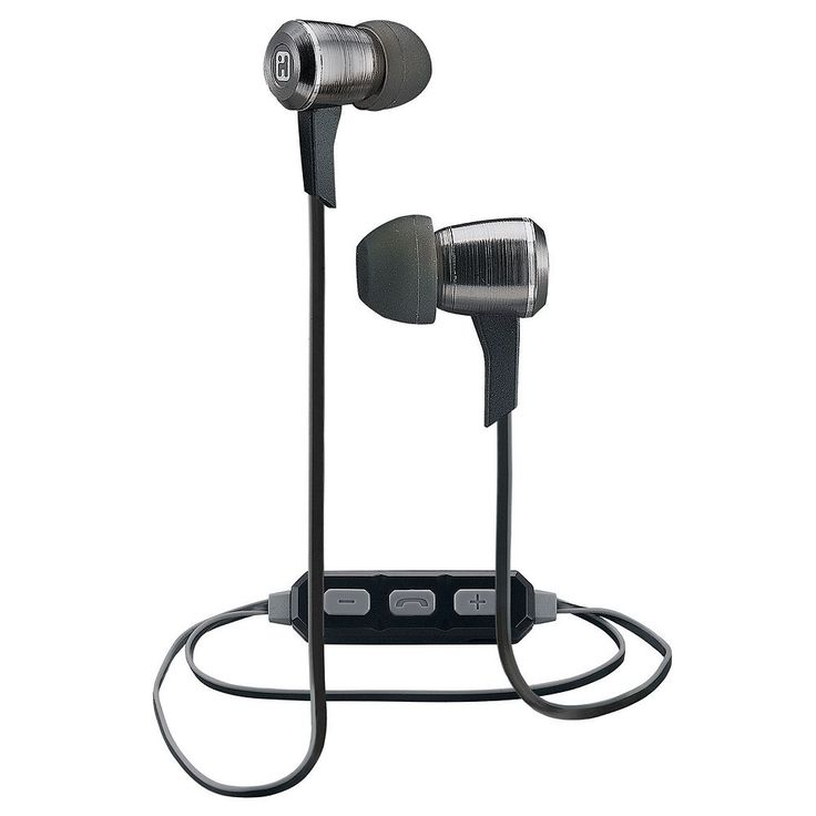 iHome iB29 Bluetooth Noise Isolating Metal Earbuds, Black