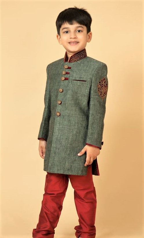 Trendy Mehndi Dresses for Baby Boy Designs (With images ...
