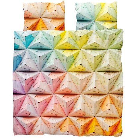 Snurk sängkläder - Geogami, Påslakan och 2st örngott, dubbelsäng