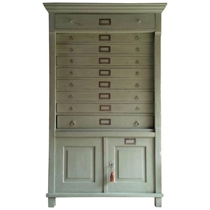 Antique Tallboy Chest of Drawers Dresser Collectors Cabinet, 19th Century | From a unique collection of antique and modern commodes and chests of drawers at https://www.1stdibs.com/furniture/storage-case-pieces/commodes-chests-of-drawers/