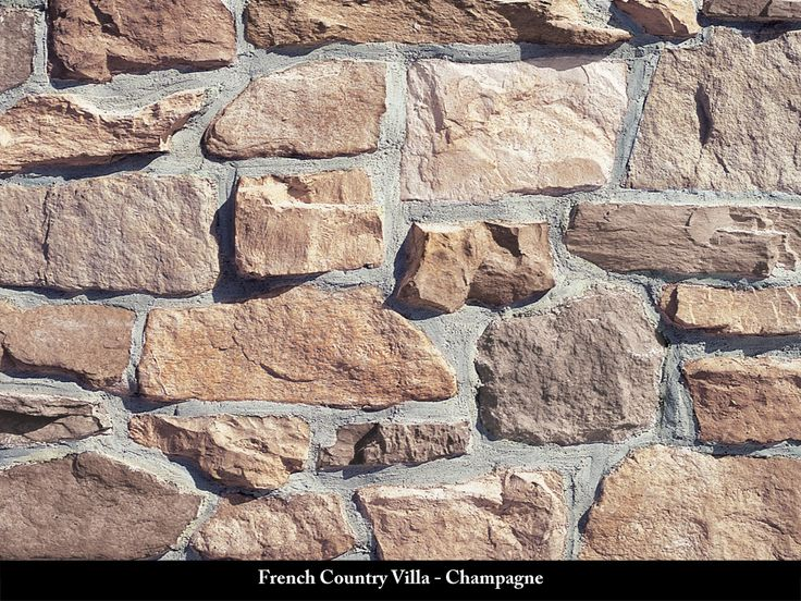 French Country Villa Stone Veneer Champagne Kitchen