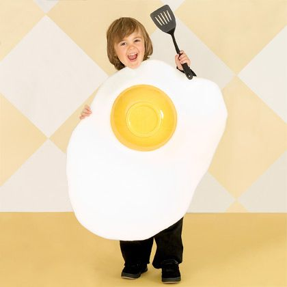 Five DIY Halloween Costumes for Kids | Fried egg costume. Food costume