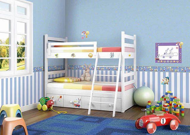 Tapety ścienne w pokoju dziecięcym.