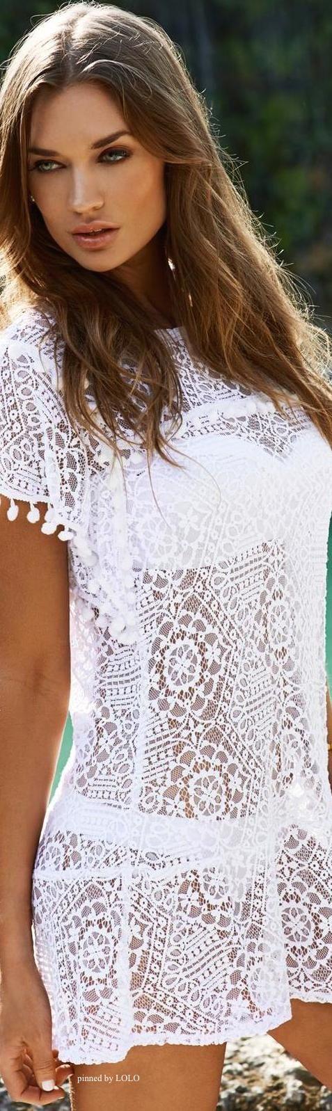Travel Ready Resort Wear| Serafini Amelia| Lace swim cover