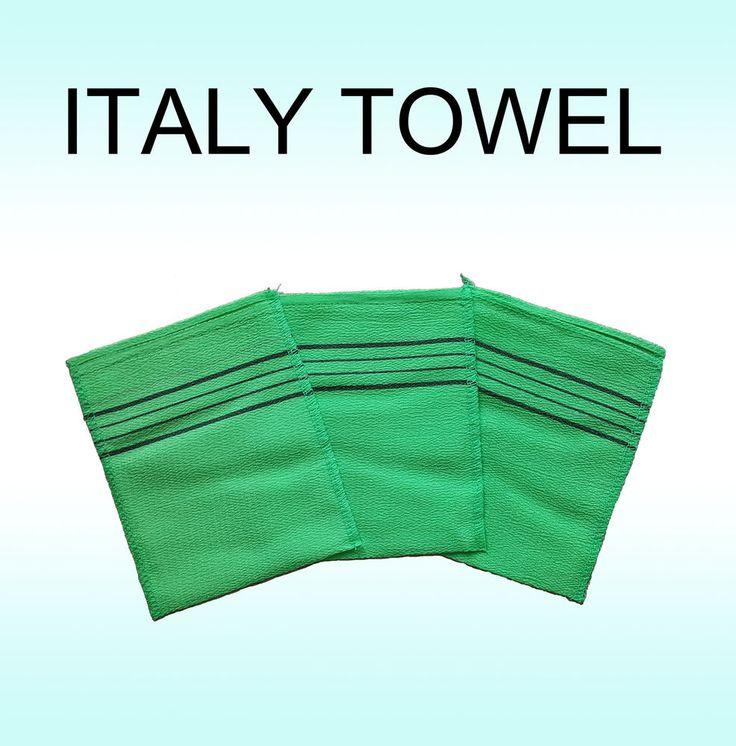 Korean Scrubbing Exfoliating Italy Towels #KoreaItalyTowel