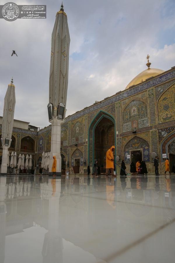 بالصور مرقد أمير المؤمنين في المطر Taj Mahal Landmarks Travel