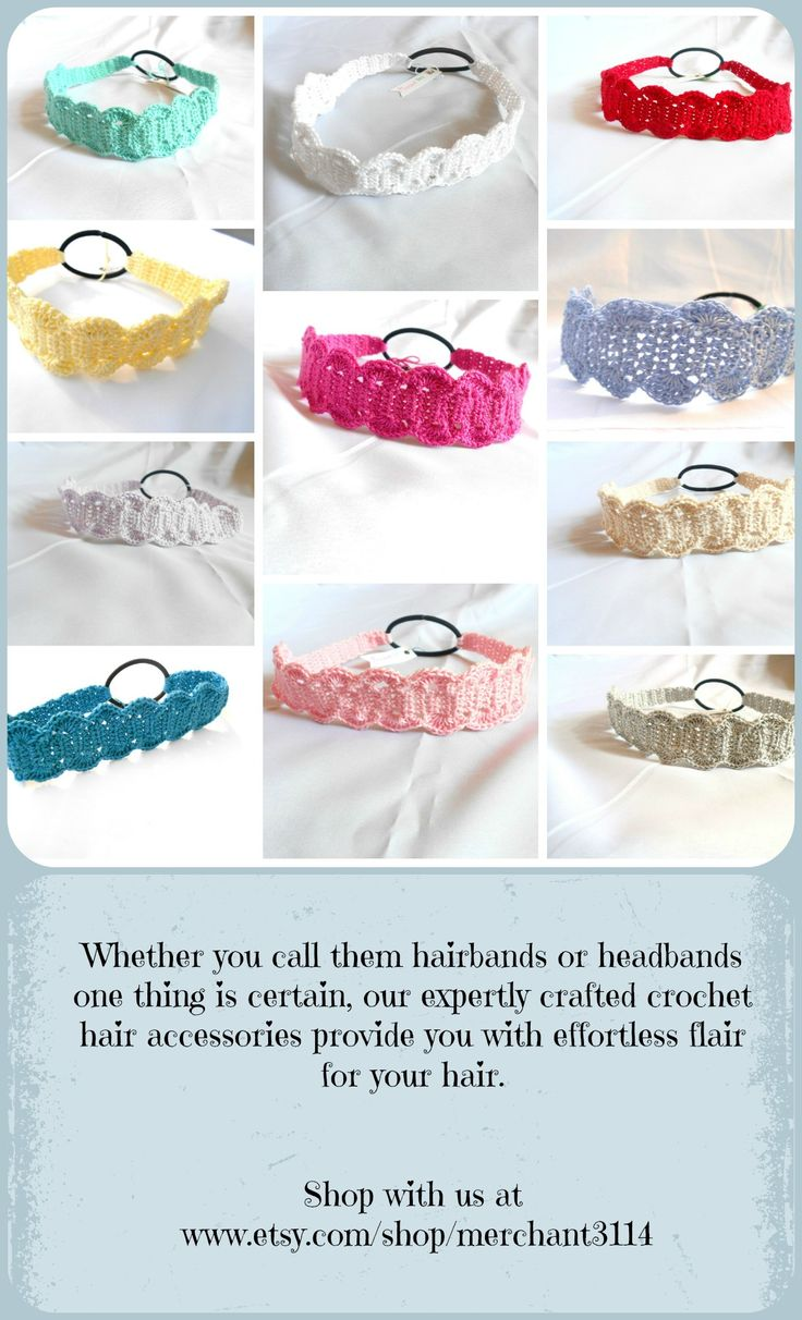These headband make great gifts for mothers day, birthday's, for a yoga teacher, or even as party favors. A variety of colors are available. Shop at www.etsy.com/shop/merchant3114