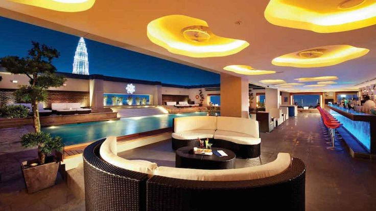 Luna Bar KL is a rooftop bar event venue with a pool right in the heart of Kuala Lumpur & offers you a 360º view of the city. Great for poolside parties!