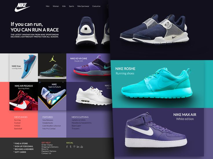 Nike Website by Matija