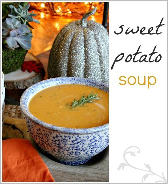Sweet potato soup recipe #SilkHoliday | Soups | Pinterest